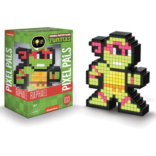 Pixel Pals Teenage Mutant Ninja Turtles Raphael Collectible Lighted Figure