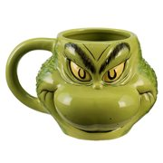 Dr. Seuss Grinch Sculpted Ceramic Mug