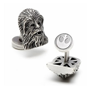 Star Wars Chewbacca 3-D Antique Palladium Cufflinks