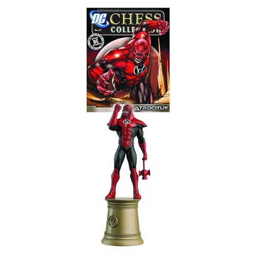 DC Superhero Atrocitus Black Bishop Chess Piece with Magazine