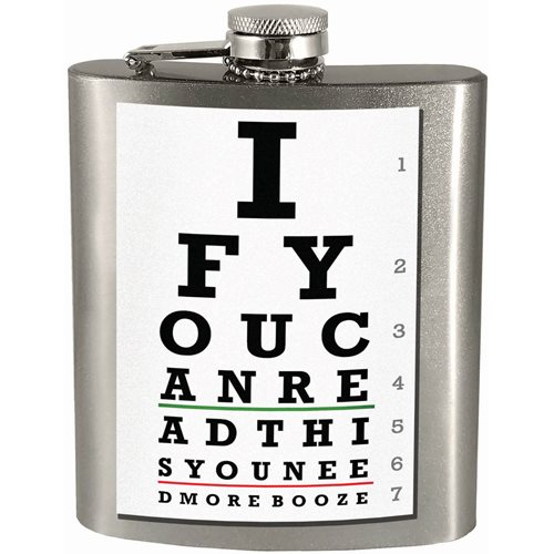 If You Can Read This Hip Flask