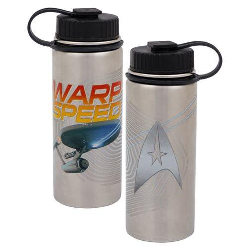 fe37f83377 Star Trek Warp Speed 18 oz. Vacuum-Insulated Stainless Steel Water Bottle