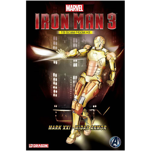 Iron Man 3 Mark 21 Midas Armor Electroplating Version Model Kit