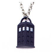 Doctor Who TARDIS Pendant with Lobster Clasp Chain Necklace