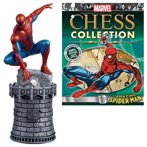 Marvel Amazing Spider-Man White King Chess Piece with Collector Magazine #83