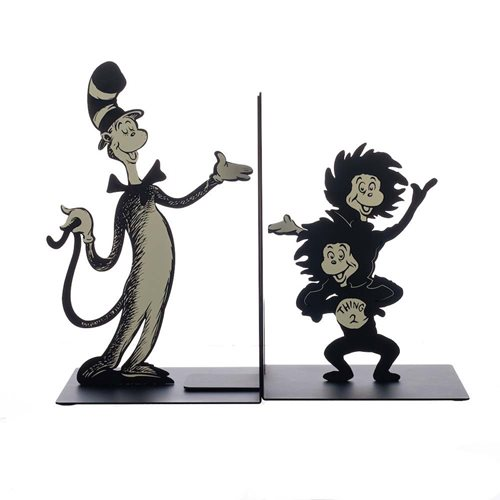 Dr. Seuss Cat In The Hat Metal Bookends
