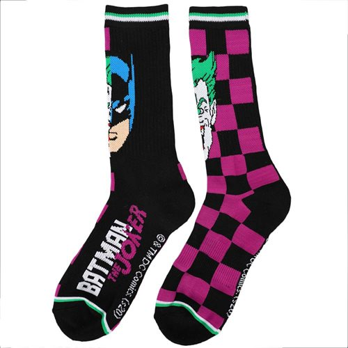 DC Comics Batman and Joker Split Crew Socks