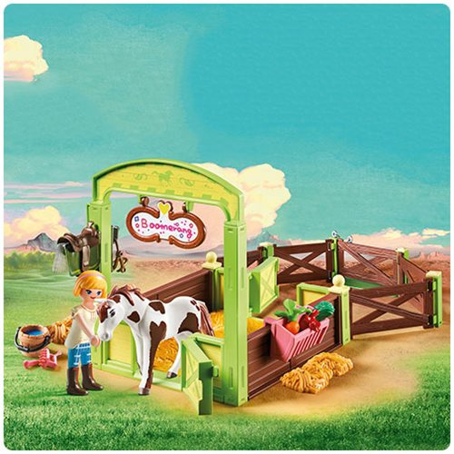 Playmobil 9480 Spirit Horse Box With Abigail & Boomerang