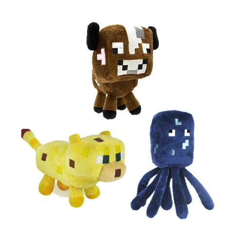 Minecraft Core Character 7-Inch Plush Wave 2 Set