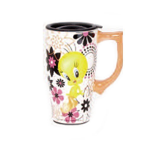 Looney Tunes Tweety Bird 18 oz. Ceramic Travel Mug with Handle