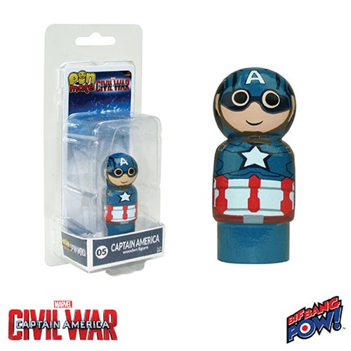 Captain America: Civil War Captain America Pin Mates Wooden Collectible