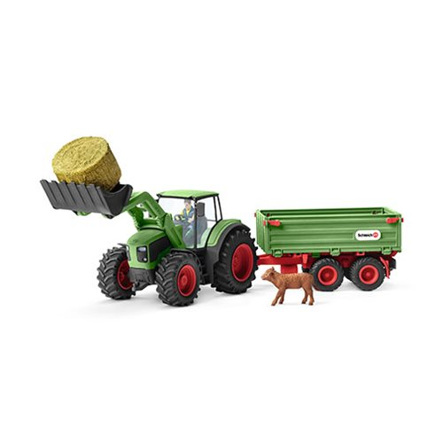 Farm World Tractor with Trailer Set