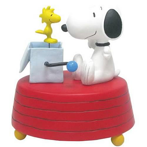 Peanuts Snoopy Woodstock-in-the-Box Mini Statue
