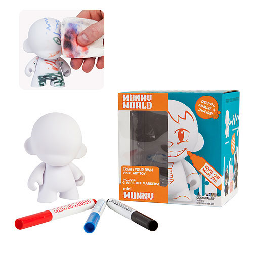Mini MUNNY Reusable DIY Toy with Wipe-Off Markers -White