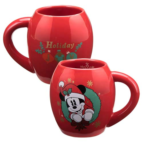Mickey Mouse Holiday 18 oz. Oval Ceramic Mug