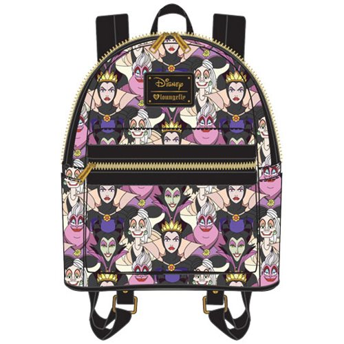 Disney Villains Print Mini Backpack