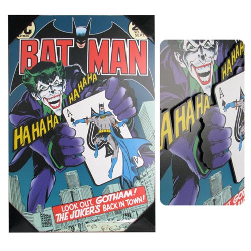 Batman Joker's Back #251 Comic Cover 3D Wood Wall Art