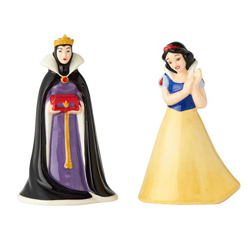 Snow White and Evil Queen Salt and Pepper Shaker Set