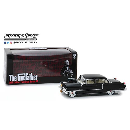 The Godfather 1955 Cadillac Fleetwood 1:24 Scale Die-Cast Metal Vehicle