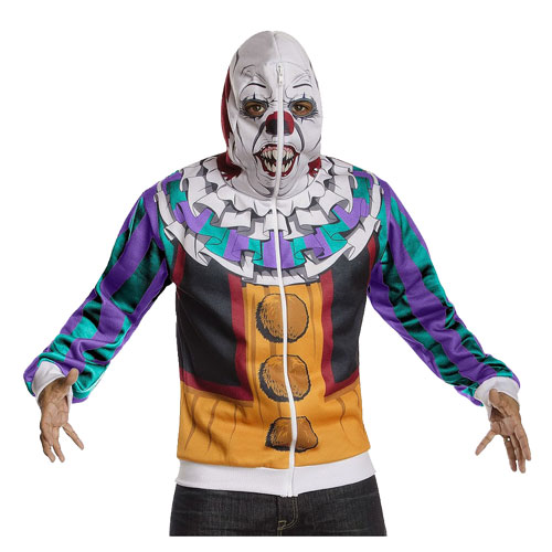 It Pennywise Zip-Up Hooded Costume