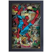Spider-Man Comic Panels Framed Art Print