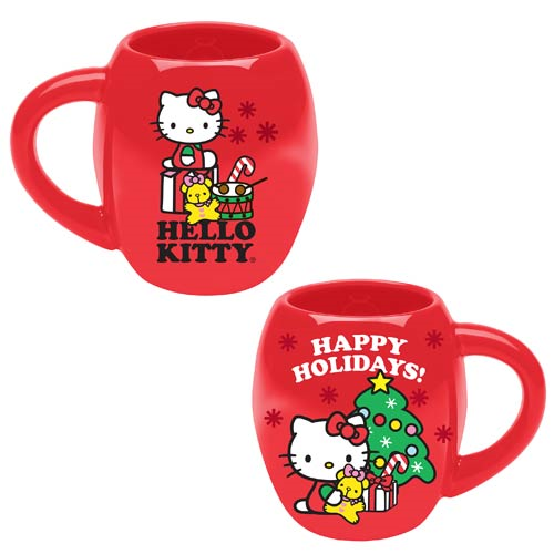 Hello Kitty Happy Holidays Christmas 18 oz. Oval Mug