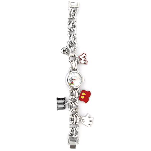 Mickey Mouse Charm Bracelet Adult Watch