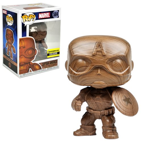 Captain America Wood Deco Pop! Vinyl Figure - EE Exclusive