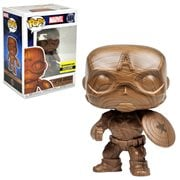 Captain America Wood Deco Pop! Vinyl Figure - Entertainment Earth Exclusive, Not Mint