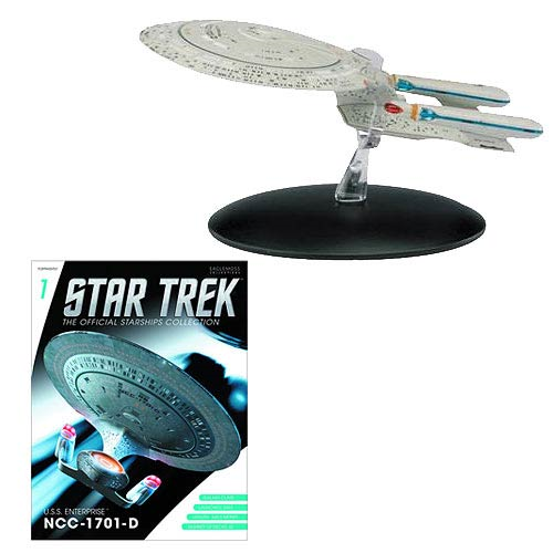 Star Trek Starships U.S.S. Enterprise NCC-1701-D Vehicle with Collector Magazine