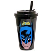 Batman Face Plastic 16 oz. Flip-Straw Travel Cup