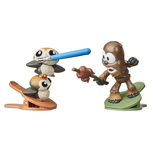 Star Wars Battle Bobblers Showdowns Porgs vs. Chewbacca Bobbleheads