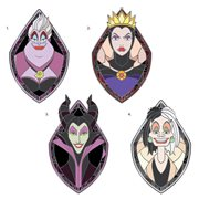 Disney Villains Faux Stained Glass 4-Pack Enamel Pin Set