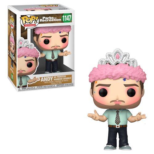 Parks and Recreation Andy as Princess Rainbow Sparkle Pop! Vinyl Figure