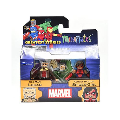 Marvel Minimates Old Man Logan and Spider-Girl, Not Mint