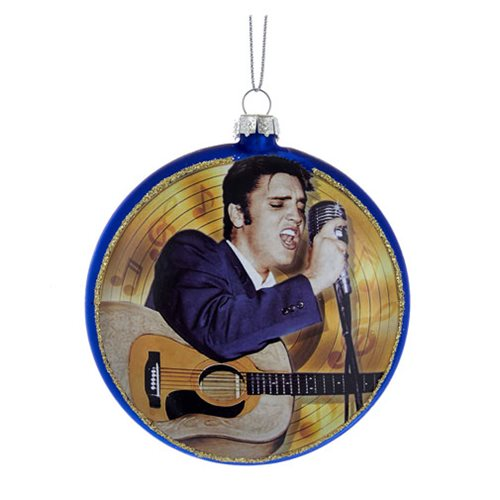 Elvis Presley Blue Suede Shoes 3 1/2-Inch Disc Ornament