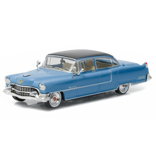 Elvis Presley 1955 ''Blue Cadillac'' Fleetwood Series 60 1:43 Scale Die-Cast Metal Vehicle