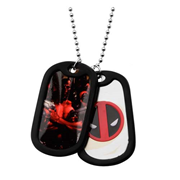 Deadpool Dog Tags with Chain Necklace