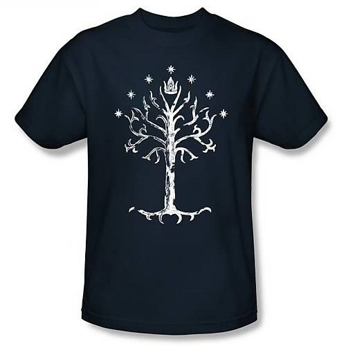 Lord of the Rings White Tree of Gondor Navy T-Shirt