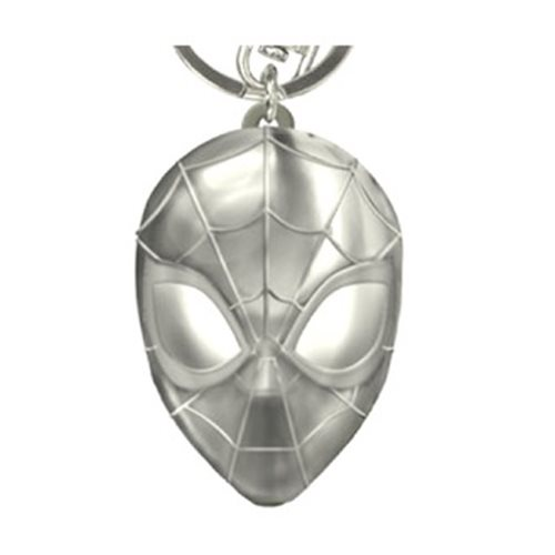 Spider-Man Face Pewter Key Chain