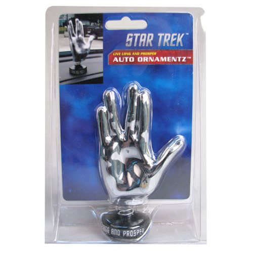 Star Trek Vulcan Hand Chrome Bobble Ornament