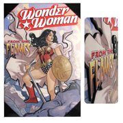 Wonder Woman Flames 3D Wood Wall Art