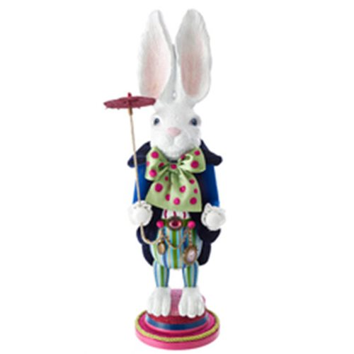 Hollywood White Rabbit 18-Inch Wooden Nutcracker