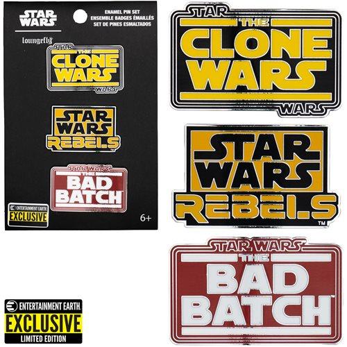 Star Wars Animated Series Enamel Pins 3-Pack - EE Exclusive