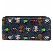 Guardians of the Galaxy Kawaii Print Zip-Around Wallet