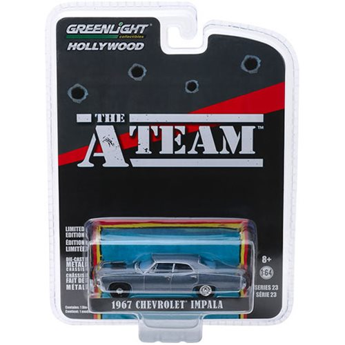 The A-Team 1983 Hollywood Series 23 1967 Chevrolet Impala Sedan Solid Pack 1:64 Scale Die Cast Metal Vehicle