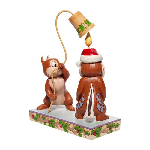 Disney Traditions Chip and Dale Christmas Statue by Jim Shore