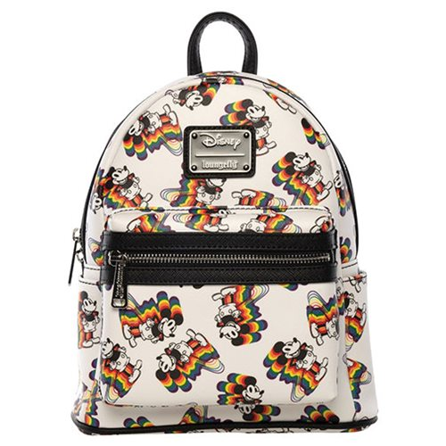 Mickey Mouse Rainbow Print Mini Backpack