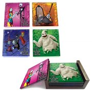 Nightmare Before Christmas StarFire Prints Glass Coaster Set