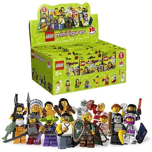 2 figures BASEBALL PLAYER Lego 8803 Series 3 and 10 Collectible Minifigure
